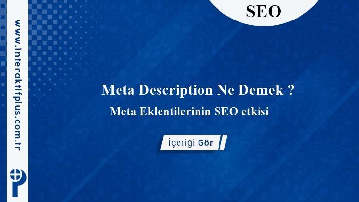 Meta Description Ne Demek