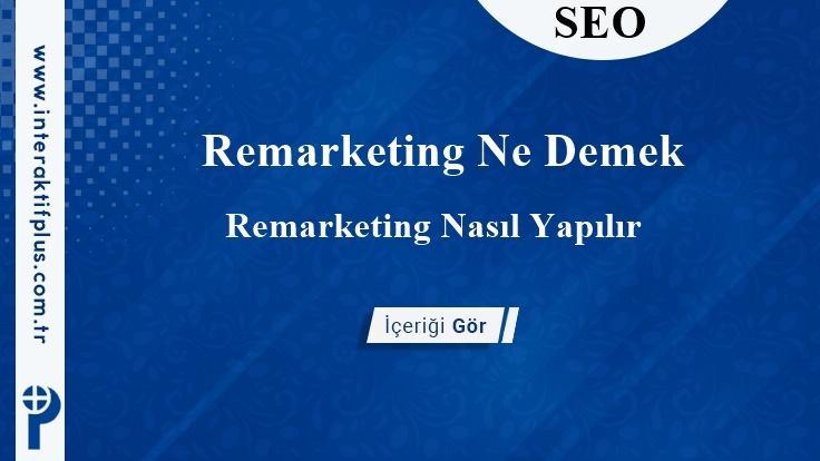 Remarketing Ne Demek