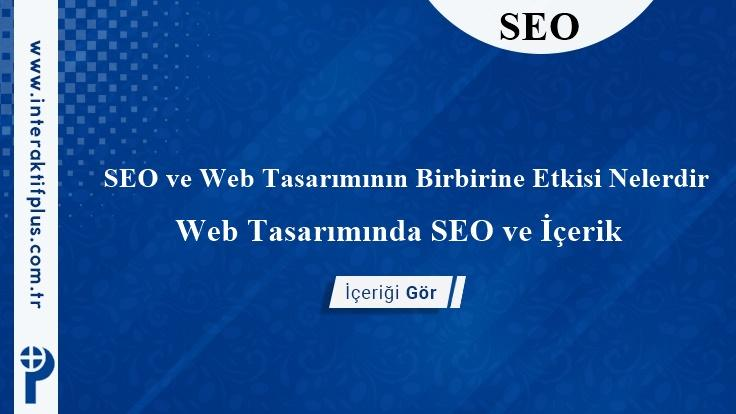 SEO ve Web Tasarımının Birbirine Etkisi Nelerdir