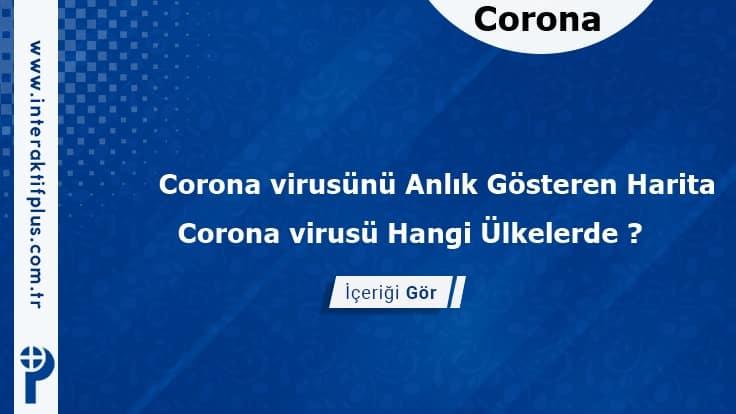 Corona virusünü Anlık Görebileceğiniz Sayaç