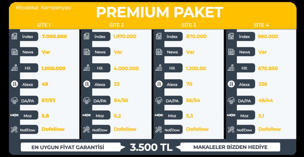 Premium Tanıtım Yazısı #Evdekal Kampanyası