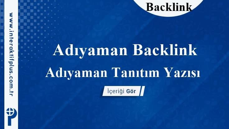 Adıyaman Backlink