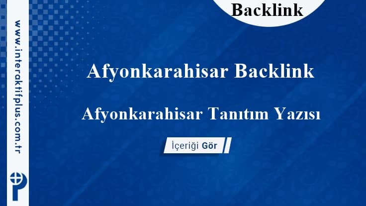 Afyonkarahisar Backlink