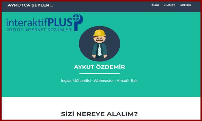 Aykutozdemir.com.tr Tanıtım Yazısı