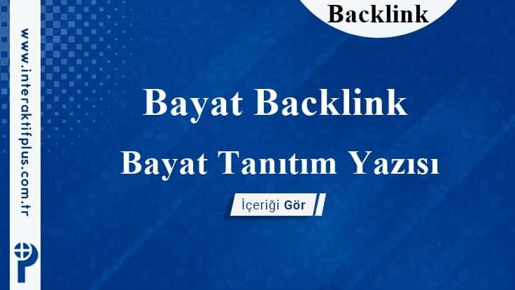 Bayat Backlink