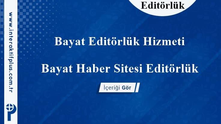Bayat Editörlük