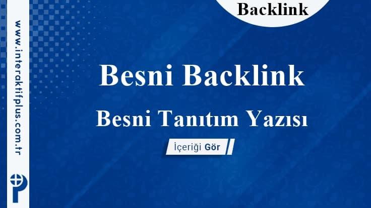 Besni Backlink