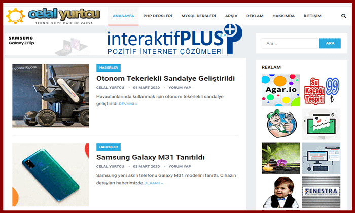 Celalyurtcu.com Tanıtım Yazısı