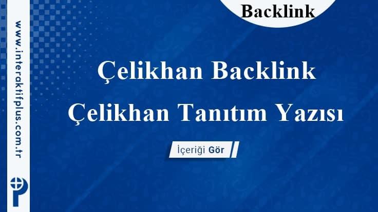 Çelikhan Backlink