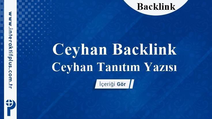 Ceyhan Backlink