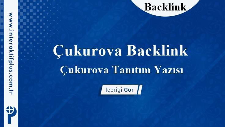 Çukurova Backlink