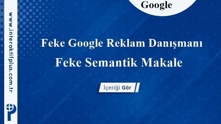 Feke Google Reklam Danışmanı