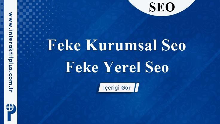 Feke Kurumsal Seo
