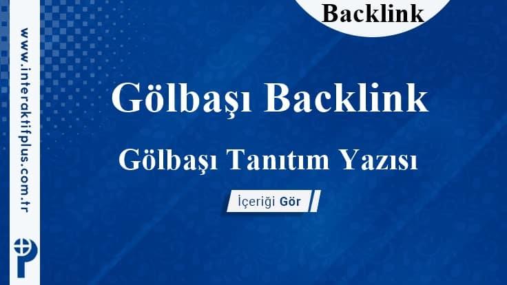 Gölbaşı Backlink