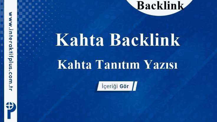 Kahta Backlink