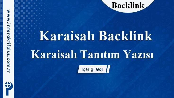 Karaisalı Backlink