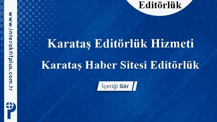 Karataş Editörlük Hizmeti