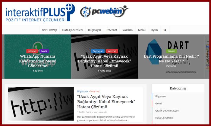 Pcwebim.com Tanıtım Yazısı