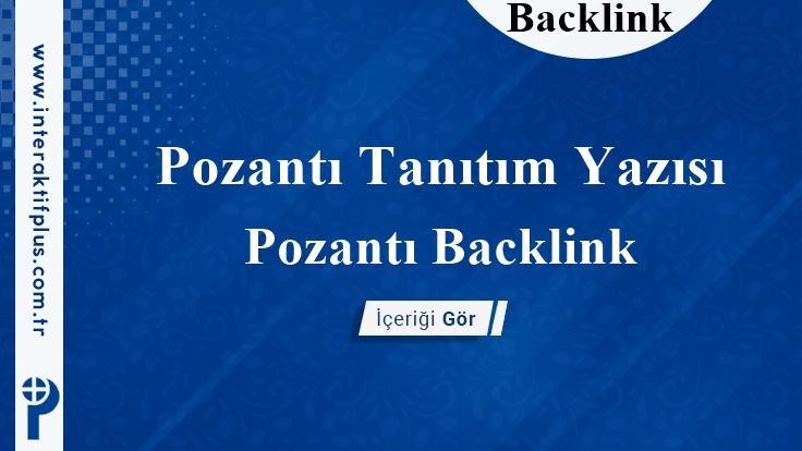 Pozantı Backlink
