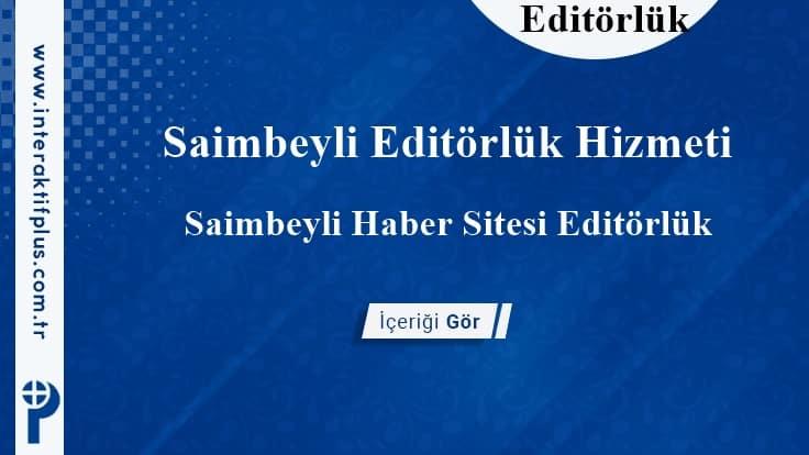 Saimbeyli Editörlük Hizmeti