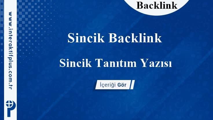 Sincik Backlink