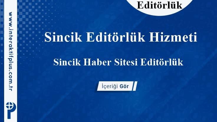 Sincik Editörlük Hizmeti