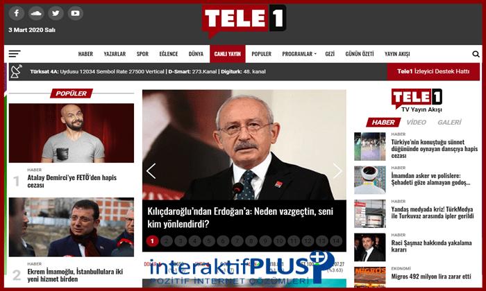 Tele1.com.tr Tanıtım Yazısı