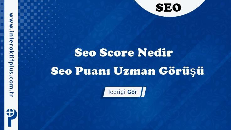 Seo Score – Seo Score Nasıl Arttırılır