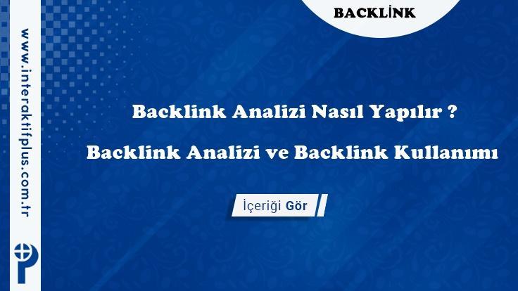 Backlink Siteleri – Backlink Analizi