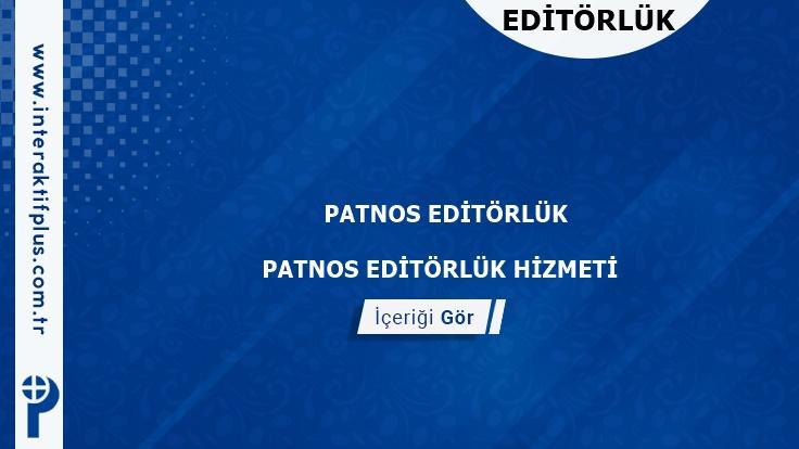 Patnos Editörlük Hizmeti ve Haber Sitesi Editörlük