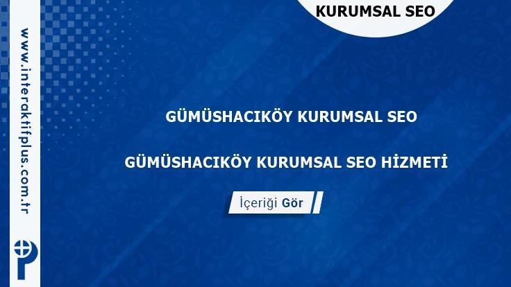 Gümüshacıköy Kurumsal Seo ve Yerel Seo