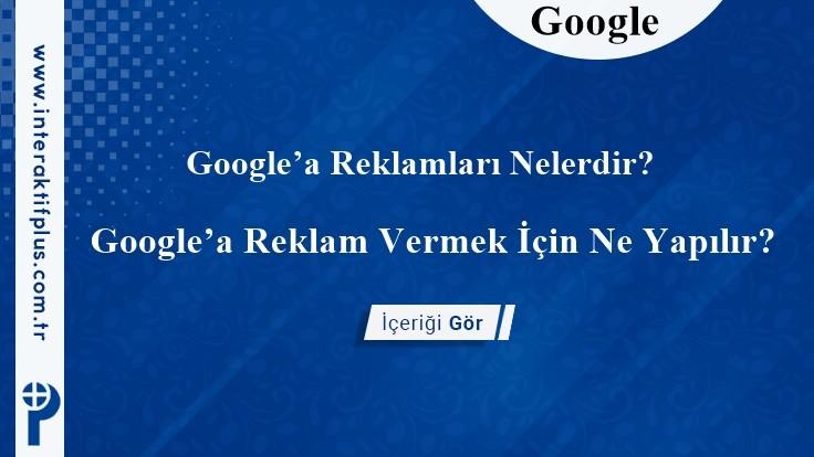 Google Reklam Verme Ücretleri
