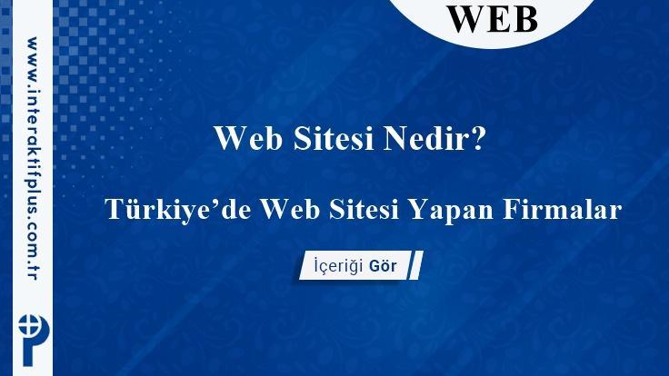 Web Sitesi Yapan Firmalar İstanbul
