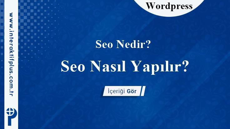 WordPressSeo Eklentileri